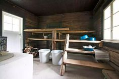 Saunas, Laundry In Bathroom, House Rooms, Hygge, Sweet Home, Cottage, Cabin, Home Decor, Villa