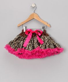 Take a look at this Leopard Pettiskirt - Infant, Toddler & Girls by Diva Daze on #zulily today!
