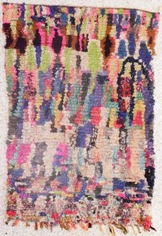 Rag rug from Morocco called boucherouite or by BOUCHEROUITE