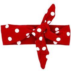 Red Polk-a-Dot Knot Headband by lettersandlollipops on Etsy