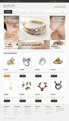 custom jewellery templates design online store b jewels shopping websites shop opencart jewelry gold website htm template