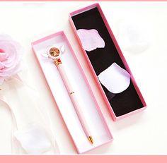 Sakura Roller Pen from pennycrafts Things To Buy, Girly Things, Handmade Rakhi Designs, Sakura Cosplay, Cool School Supplies, Roller Pen, Card Captor, Cute Stationery, Cardcaptor Sakura