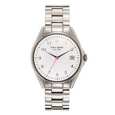 Kate Spade watch. Love the little pops of pink!
