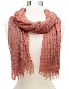 Lace Stripe Woven Scarf: Charlotte Russe