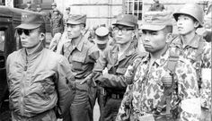 General Park Chung Hee on the day he seized power in Seoul, Korea 1961
