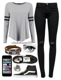 """""""this is not were i belong, you're gonna miss me when i'm gone"""" by helloimweird13 ❤ liked on Polyvore featuring Boohoo, J Brand, Vans, BillyTheTree and Natures Jewelry"""