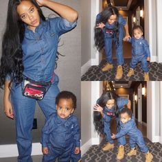 Angela Simmons with her baby boy Sutton #Twinning