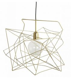 Housedoctor Lampenkap 'Asymetric' glimmend goud metaal Ø45cm - wonenmetlef.nl