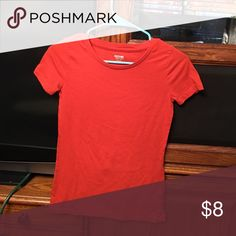 Ladies red tee shirt Ladies XS Mossimo Supply Co. Red tee shirt in like new condition. Mossimo Supply Co Tops Tees - Short Sleeve