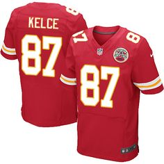 Nike Elite Travis Kelce Red Men's Jersey - Kansas City Chiefs #87 NFL Home