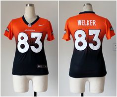Kids Nike NFL Denver Broncos  83 Wes Welker Orange Drift Fashion II Elite  Jerseys Denver 6d0fd09f6