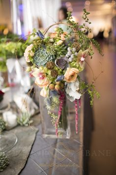 Ottawa Bridal Party – Highlights, Mill Street Florists, Succulents, Bouquet, Rustic