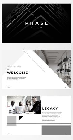 Keynote Template - Phase - For those looking for a professional presentation, 'Phase' offers a modern angular​ design packed with a wealth of features. Built by professionals with decades of experience, 'Phase' is ready to work hard for any business or industry you need it to.