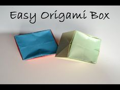 Easy Origami Paper Box - DIY Crafts Tutorials - Giulia's Art - YouTube