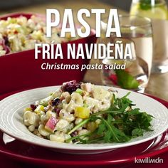 Pasta Fría Navideña - Odd Tutorial and Ideas Christmas Pasta, Food Porn, Cold Pasta, Cooking Recipes, Healthy Recipes, Pancake Recipes, Meal Recipes, Tasty, Yummy Food