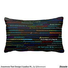 Jonestown Text Design I Lumbar Pillow