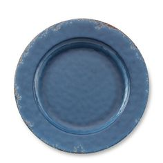 Rustic Melamine Dinner Plates, Set of 4 #williamssonoma  A nod to the blue plate: something sophisticated yet rustic.