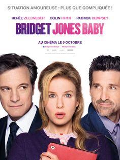 La suite des aventures de Bridget Jones !   BRIDGET JONES BABY, de Sharon Maguire, avec Renée Zellweger, Colin Firth, Patrick Dempsey.  Synopsis : Après avoir rompu avec Mark Darcy, Bridget se retrouve de nouveau célibataire, 40 ans passés, plus concentrée sur sa carrière et ses amis que sur sa vie amoureuse. Pour une fois tout est sous contrôle! Jusqu'à ce que Bridget fasse la rencontre de Jack... Puis retrouve Darcy... Puis découvre qu'elle est enceinte... Mais de qui ???