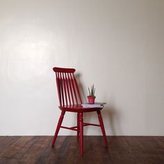 Red is the color of love. Spindle chair available as Custom Made at www.heimastore.com  #furniture #chair