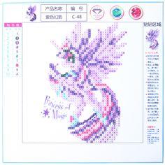NAIYUE 5D Diy Diamond Painting Cross Stitch kit 3d Diamond Embroidery Cartoon Unicorn Princess Pony Diamond Mosaic Picture