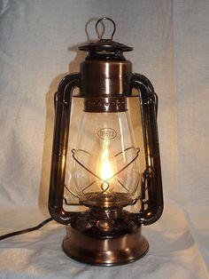 Dietz Junior 'Vintage Style' Electric Lantern Table Lamp - Copper Bronze - - Amazon.com