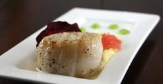 Seared Scallop, Parsnip Puree, Grapefruit and Beet
