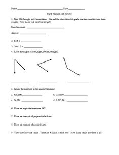 Printables Everyday Mathematics Worksheets study guides and math on pinterest review practice for unit 6 everyday grade 4