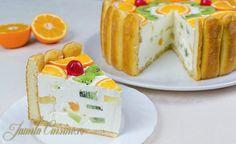 Tort-diplomat Romanian Desserts, Romanian Food, Romanian Recipes, Sweets Recipes, Cake Recipes, Birthday Cake Decorating, Lava Cakes, Food Cakes, Gastronomia