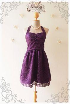 Royal Purple Lace Dress Purple Lace Dress Vintage von Amordress