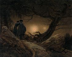 Two Men Contemplating the Moon c.1819