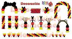 Mickey E Minnie Mouse, Fiesta Mickey Mouse, Mickey Mouse Balloons, Mickey Mouse Decorations, Mickey Mouse Baby Shower, Mickey Mouse Parties, Mickey Party, Balloon Decorations Party, Mickey Mouse Clubhouse Birthday