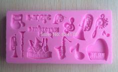 Muitos tipos de instrumentos musicais silicone molde US $1.60