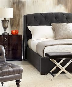 Tufted Bed -    Jordan King Bed by Bernhardt is a modern bed that will look stunning in your space. Luxe Home, a furniture showroom and design center, has an extensive selection of furniture and accessories for immediate delivery.