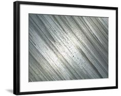 """Close-Up of Shiny Industrial Steel with Lines\"" Photographic Print - 