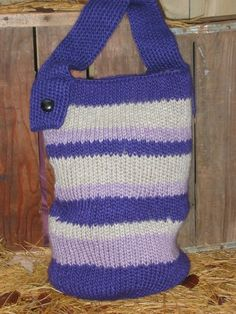 Goncho Stripe Bag Knitting Loom ~*~ Free Pattern