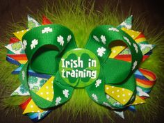 St Patrick's Day Hair Bow