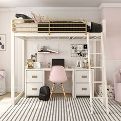 dream rooms for adults ; dream rooms for women ; dream rooms for couples ; dream rooms for adults bedrooms ; dream rooms for girls teenagers Cute Bedroom Ideas, Cute Room Decor, Room Ideas Bedroom, Wall Decor, Loft Bed Room Ideas, Small Bedroom Ideas For Teens, Space Saving Bedroom, Ideas For Bedrooms, Small Teen Room