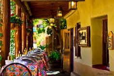 Tapas and wine at el farol, Canyon Road, Santa Fe