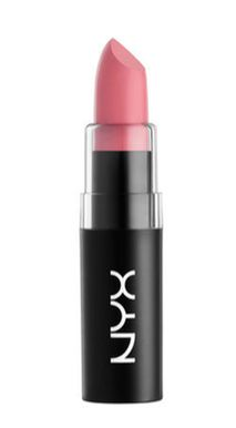 NYX Brand Matte Lipstick in Whipped Caviar.  Let's Talk About Lips, Baby || Fresh Friday || Champagne + Linen