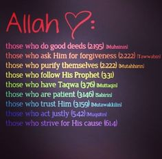 What does Allah ❤️?  #AllahLoves #Islam #Quran