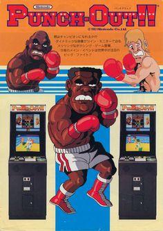 Punch-Out! an arcade game created by Nintendo in Punch-Out! an arcade game created by Nintendo in Vintage Video Games, Classic Video Games, Retro Video Games, Vintage Games, Video Game Art, Retro Games, Vintage Decor, Joystick Arcade, Bartop Arcade