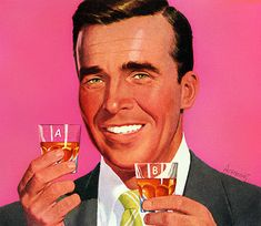 """""""Scotch, the breakfast of champions! Pin Up, Vintage Advertisements, Vintage Ads, Vintage Posters, Lively Up Yourself, 1950s Art, Cleaning Walls, Cleaning Tips, Breakfast Of Champions"""