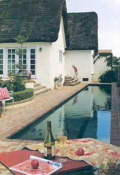 Leave room in the landscape for a future lap pool - you just never know what good things will happen in the future! (cottage with a lovely lap pool)
