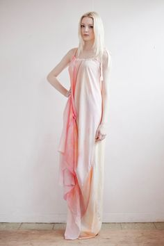 Sunset Silk Dress by SLCSLC on Etsy. £180.00, via Etsy.