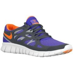 Nike Free Run + 2 - Men's - Running - Shoes - Pure Purple/Total Orange/Anthracite/Wolf Grey
