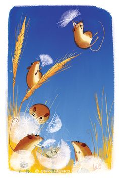 """Lofty Harvest Mice"" by Steph Laberis"