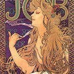 Alphonse Mucha. Manifesto pubblicitario per le cartine di sigarette…