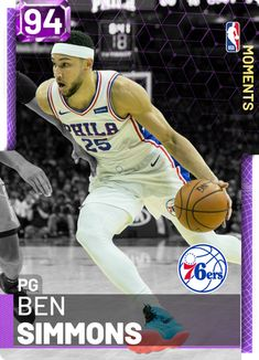 (343) Custom Cards - 2KMTCentral Nba Basket, Nba Live, Ben Simmons, Player Card, Celebrity Caricatures, Basketball Pictures, Kyrie Irving, Nba Players, Custom Cards