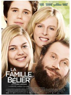 """""""La Famille Bélier"""", film de Eric Lartigau avec Karin Viard, François Damiens. Synopsis : Dans la famille Bélier, tout le monde est sourd sauf Paula, 16 ans. Elle est une interprète indispensable àses parents au quotidien, notamment pour..."""