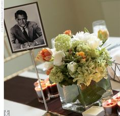 cary grant :) and an awesome centerpiece